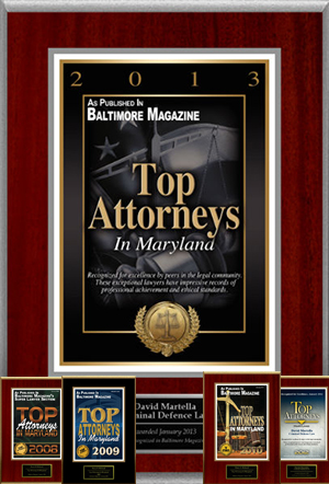 Top Attorneys In Maryland award 2013