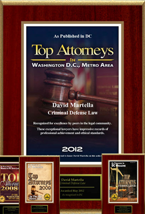 Top Attorneys In The DC Metro Area award 2012