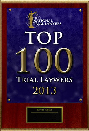 Top 100 Trial Lawyers recognition 2013
